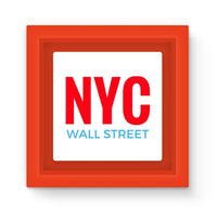 Nyc Wall Street Magnet Frame Red Homeware
