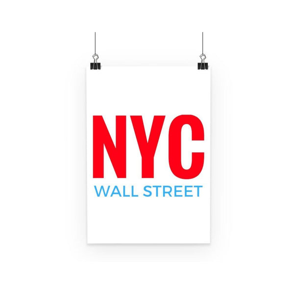 Nyc Wall Street Poster A3 Decor