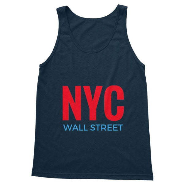 Nyc Wall Street Softstyle Tank Top S / Navy Apparel