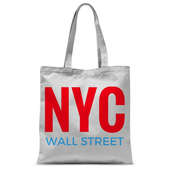 Nyc Wall Street Sublimation Tote Bag 15X16.5 Accessories