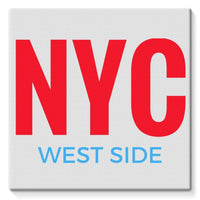Nyc West Side Stretched Eco-Canvas 10X10 Wall Decor