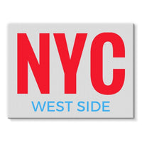 Nyc West Side Stretched Eco-Canvas 24X18 Wall Decor