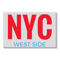 Nyc West Side Stretched Eco-Canvas 36X24 Wall Decor