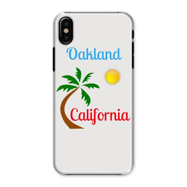 Oakland California Palm Sun Phone Case Iphone X / Snap Gloss & Tablet Cases