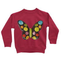 Painted Butterfly Kids Sweatshirt 3-4 Years / Fire Red Apparel