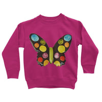 Painted Butterfly Kids Sweatshirt 3-4 Years / Hot Pink Apparel
