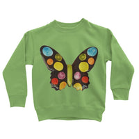 Painted Butterfly Kids Sweatshirt 3-4 Years / Lime Green Apparel