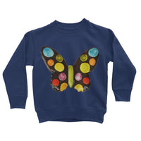 Painted Butterfly Kids Sweatshirt 3-4 Years / New French Navy Apparel
