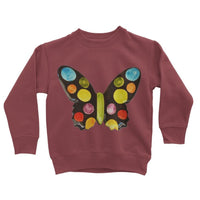 Painted Butterfly Kids Sweatshirt 3-4 Years / Red Hot Chili Apparel