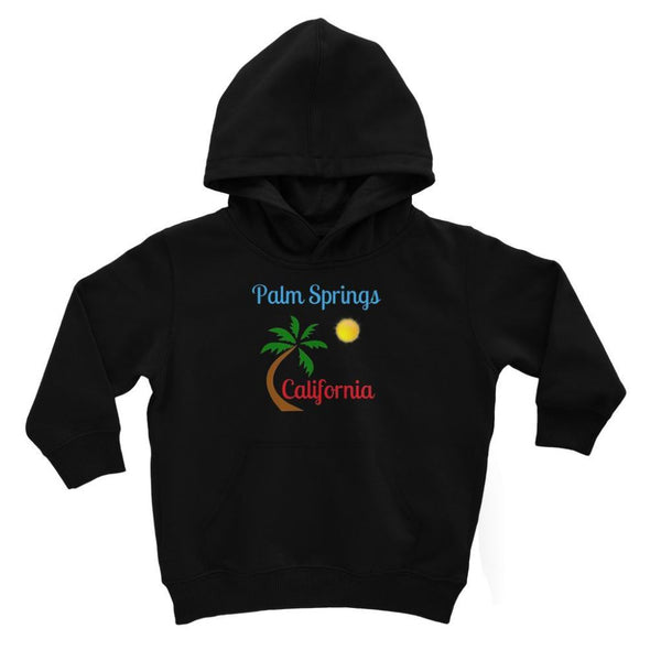 Palm Springs California Kids Hoodie 3-4 Years / Jet Black Apparel