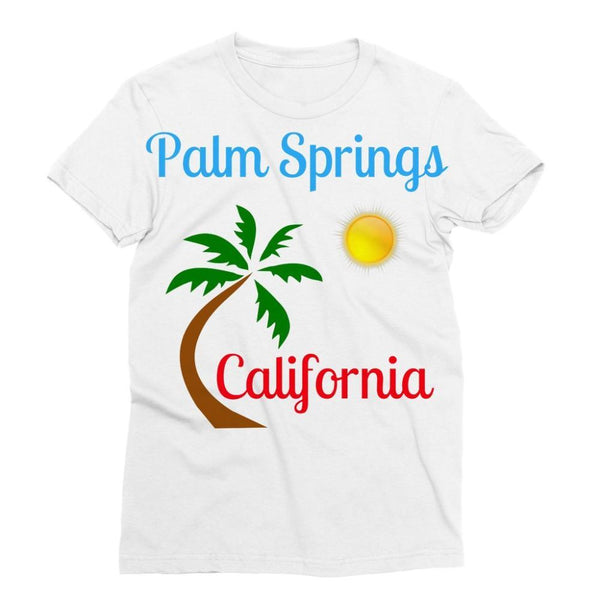 Palm Springs California Sublimation T-Shirt S Apparel