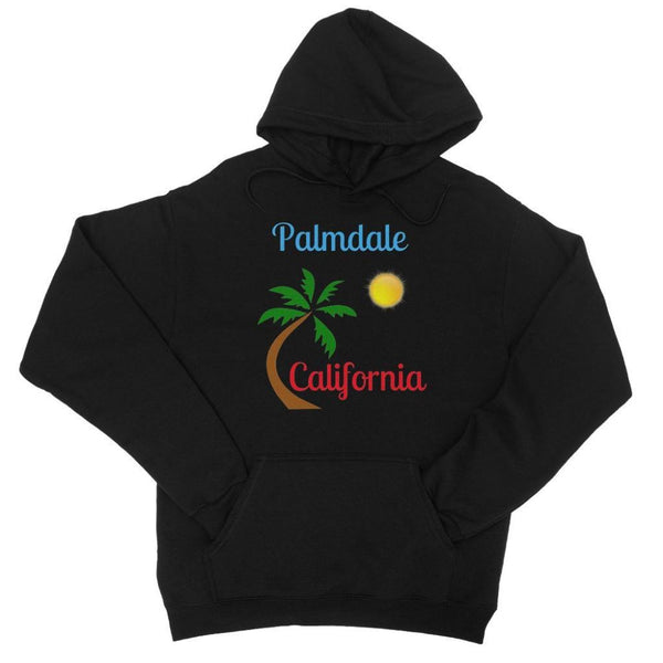 Palmdale California Palm Sun College Hoodie Xs / Black Apparel
