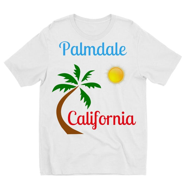 Palmdale California Palm Sun Kids Sublimation T-Shirt 3-4 Years Apparel