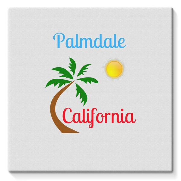 Palmdale California Palm Sun Stretched Eco-Canvas 10X10 Wall Decor