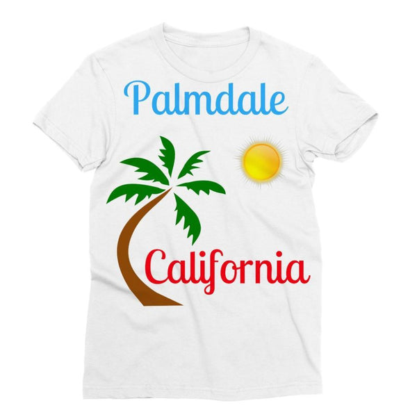 Palmdale California Palm Sun Sublimation T-Shirt Xs Apparel