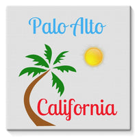 Palo Alto California Stretched Eco-Canvas 10X10 Wall Decor