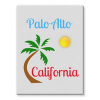 Palo Alto California Stretched Eco-Canvas 18X24 Wall Decor