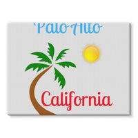 Palo Alto California Stretched Eco-Canvas 24X18 Wall Decor