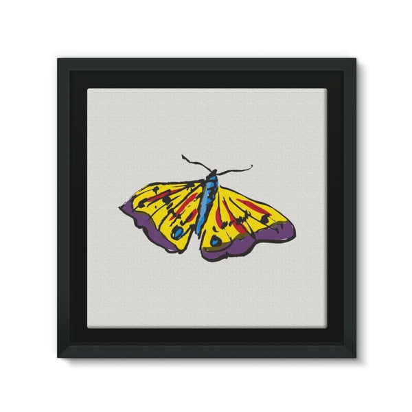 Passarella Butterfly Framed Canvas 12X12 Wall Decor