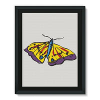 Passarella Butterfly Framed Canvas 12X16 Wall Decor