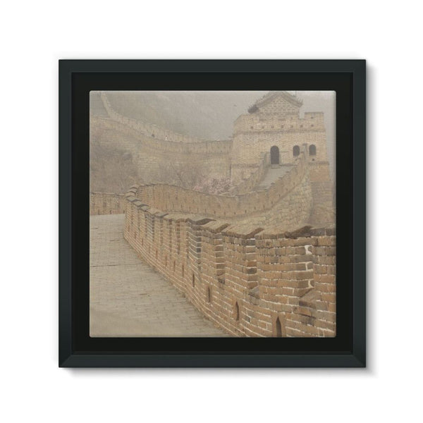Pathway Of The Wall China Framed Canvas 12X12 Decor