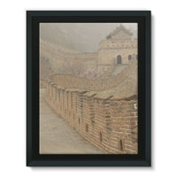 Pathway Of The Wall China Framed Canvas 18X24 Decor