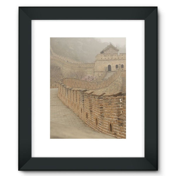 Pathway Of The Wall China Framed Fine Art Print 12X16 / Black Decor