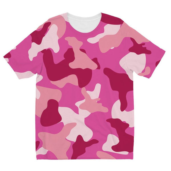 Pink Camo Pattern Kids Sublimation T-Shirt 3-4 Years Apparel