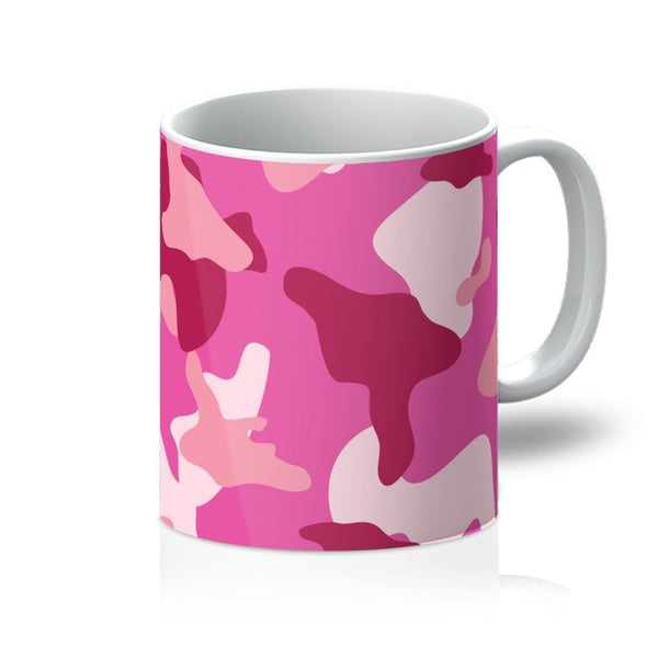 Pink Camo Pattern Mug 11Oz Homeware