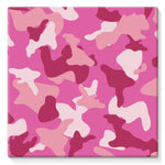 Pink Camo Pattern Stretched Canvas 10X10 Wall Decor