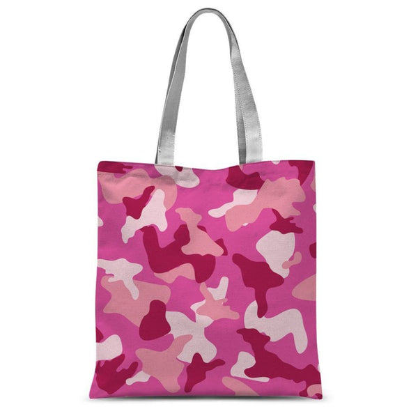 Pink Camo Pattern Sublimation Tote Bag 15X16.5 Accessories