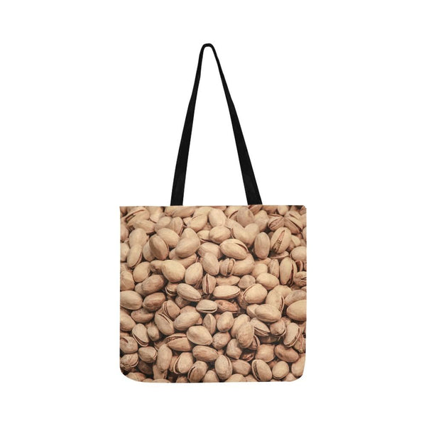 Pistachio Nut Pattern Reusable Tote Shopping Bag (Two Sides) (1660)