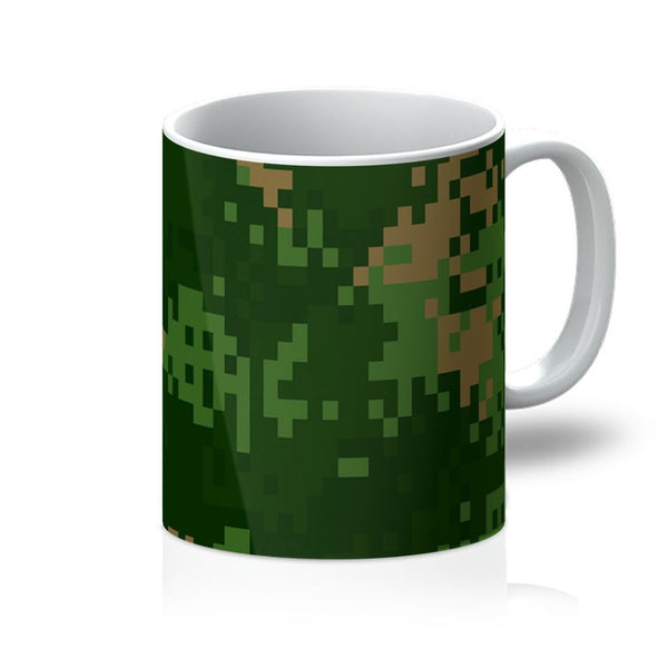Pixel Woodland Camo Pattern Mug 11Oz Homeware