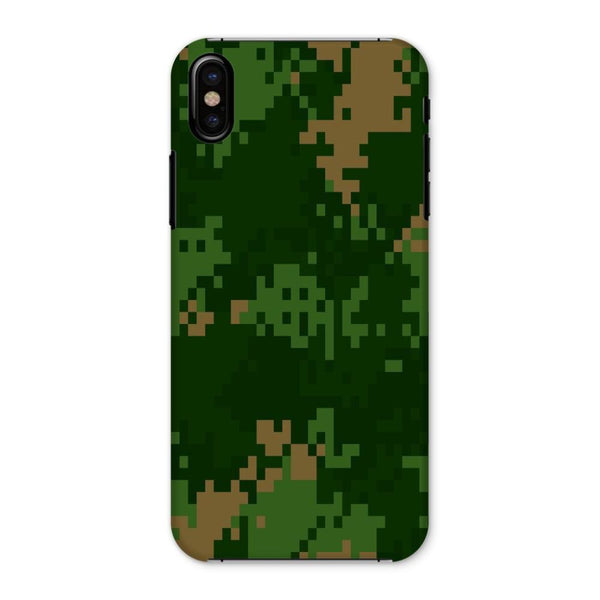 Pixel Woodland Camo Pattern Phone Case Iphone X / Snap Gloss & Tablet Cases