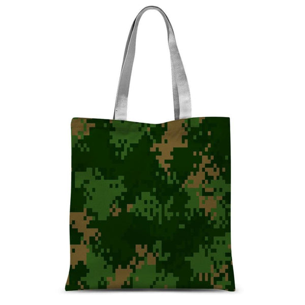 Pixel Woodland Camo Pattern Sublimation Tote Bag 15X16.5 Accessories