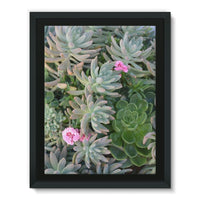 Plant With Pink Flowers Framed Canvas 24X32 Wall Decor