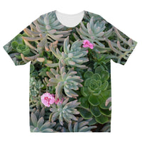 Plant With Pink Flowers Kids Sublimation T-Shirt 3-4 Years Apparel