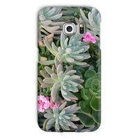 Plant With Pink Flowers Phone Case Galaxy S6 Edge / Snap Gloss & Tablet Cases