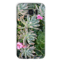 Plant With Pink Flowers Phone Case Galaxy S6 / Snap Gloss & Tablet Cases