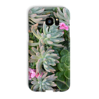 Plant With Pink Flowers Phone Case Galaxy S7 Edge / Snap Gloss & Tablet Cases