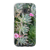 Plant With Pink Flowers Phone Case Galaxy S7 Edge / Tough Gloss & Tablet Cases