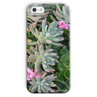Plant With Pink Flowers Phone Case Iphone Se / Snap Gloss & Tablet Cases