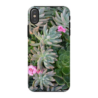 Plant With Pink Flowers Phone Case Iphone X / Tough Gloss & Tablet Cases