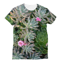 Plant With Pink Flowers Sublimation T-Shirt S Apparel