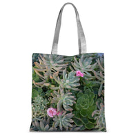 Plant With Pink Flowers Sublimation Tote Bag 15X16.5 Accessories