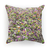 Portulaca Grandiflora Cushion Faux Suede / 18X18 Homeware