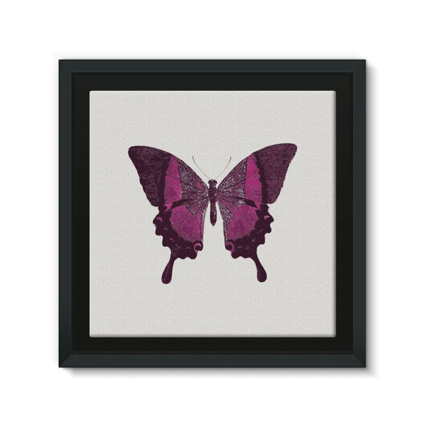 Purple Fantasy Butterfly Framed Canvas 12X12 Wall Decor
