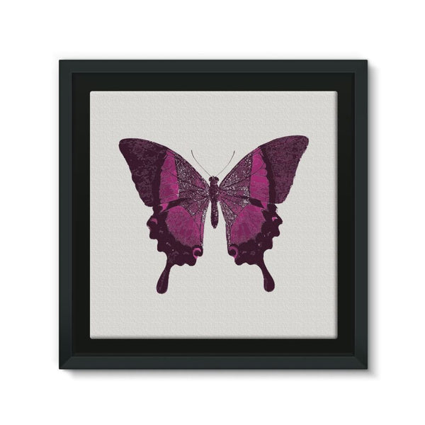 Purple Fantasy Butterfly Framed Eco-Canvas 10X10 Wall Decor