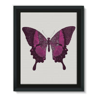 Purple Fantasy Butterfly Framed Eco-Canvas 11X14 Wall Decor