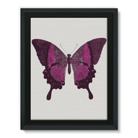 Purple Fantasy Butterfly Framed Eco-Canvas 18X24 Wall Decor